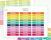 Preschool Planner Stickers - Removable Matte Vinyl -