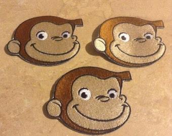 ONE Cute Monkey Patch/ Cute Monkey Appliqué / Curious Monkey Patch