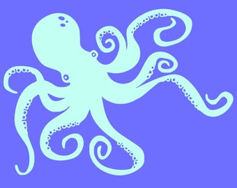 Octopus decal~FREE SHIPPING~Ocean