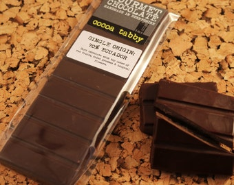 Chocolate bar - Single Origin: Ecuador 70% Cocoa. Belgian dark chocolate. Handmade in Derbyshire