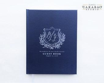 Wedding GuestBook Wedding Guest Book Wedding Journal Custom Guest Book 8x10 5x7 - Little Carabao Studio - #GC104