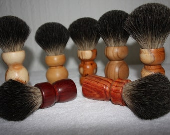 Wooden Shaving brush, Badger hair, Variable woods (select your choice)