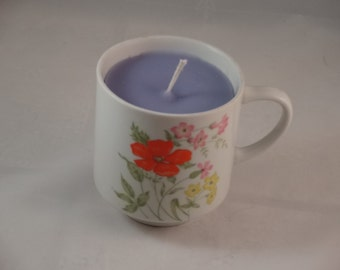 Lavender Tea Cup Candle