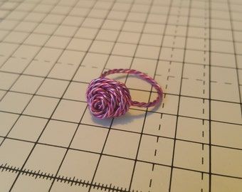 Beautiful wire wrapped rose ring