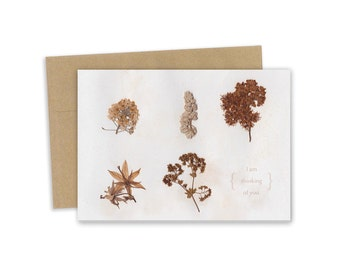 I am thinking of you - card - Plant specimen