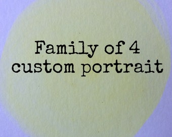 SAMPLE * 5x7 Custom Family Portrait