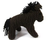 Vintage Horse Toy // Waldorf style knitted Horse // Babies first Horse // CE tested toy // hand made horse toy