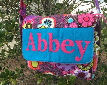 Personalized Messenger Bag - Kids Messenger Bag - Girls Messenger Bag - Pink Messenger Bag - Dance Bag - Sleepover Bag - Kids Overnight Bag