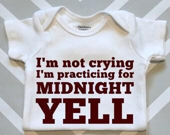 Midnight Yell Baby Onesie - Aggie Baby Shower Gift - Gender Neutral Texas A&M Onesie
