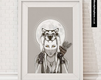 Fear Makes The Wolf // Illustrated Giclee Art Print // Wendy Stephens