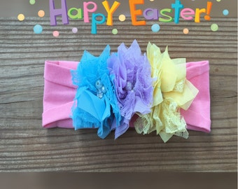 Happy Easter Holiday Headband or Hair Clip