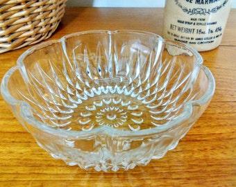 Vintage Pressed Glass Serving Dish, Sugar Bowl, Afternoon Tea, Weddings