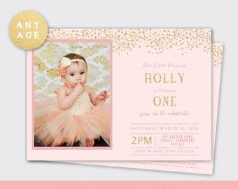 Birthday Invitation, Birthday Invite, Ballerina Invitation, Tutu Birthday Invitation, Pink Gold Invitation, Birthday Invite, Picture #41