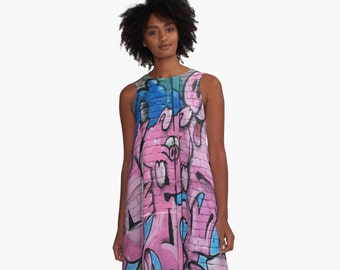 Street Graffiti Numero Tres A-Line Swing Dress Trapeze Dress  XS S M L XL 2XL Woman Teen Wearable Art Clothing