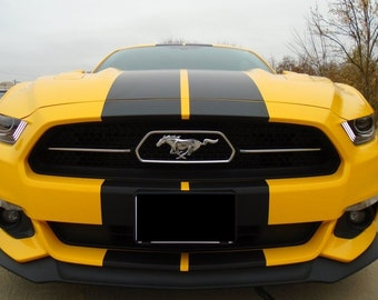 "2015 2016 2017  Mustang 10"" PLAIN Rally Stripe Stripes graphics set"