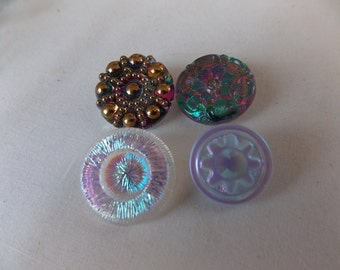 Czech Glass Buttons Collection Group of Different Button B312