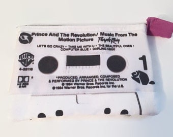 Prince Purple Rain Large Cassette Tape Clutch