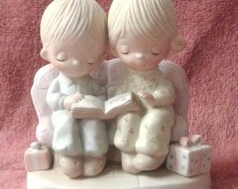 "Vintage Precious Moments Figurine - ""Unto Us A Child Is Born"" - Original 21 - Suspended 1984"