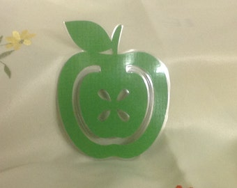 Apple Bookmark , Laminated , Books , Page keeper , Reading , Waterproof