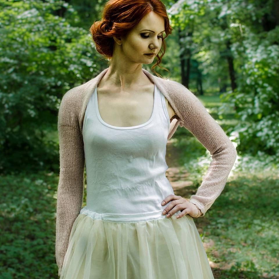 Wedding Shrug Dusty Pink Bridal Bolero Jacket Long Sleeve