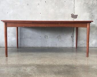 Danish Modern Hovmand Olsen Dining Table w/ Leaves (QQS8FW)
