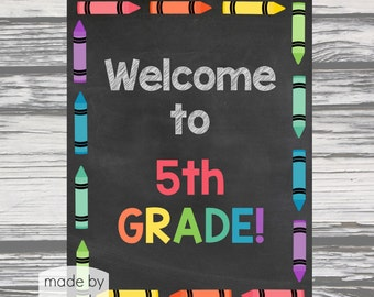 Welcome to 5th Grade Poster