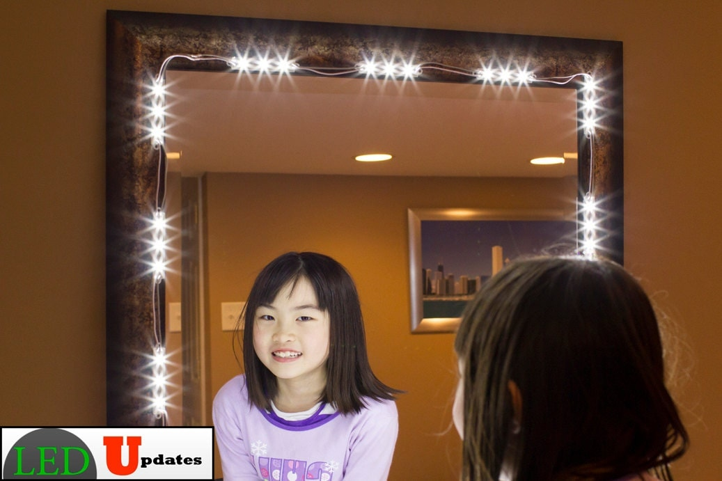 zoom. Make up mirror LED light kit vanity LED light with dimmer and