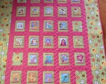 Alphabet quilt