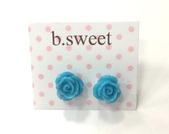 Blue b.sweet Petite Floral Stud Earrings