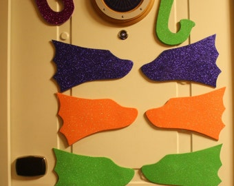 Snorkel & Fins Glitter Foam Door Mangets