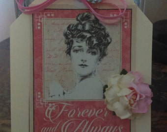 Mon Amour photo tag,,,card,,,journaling tag,,romantic