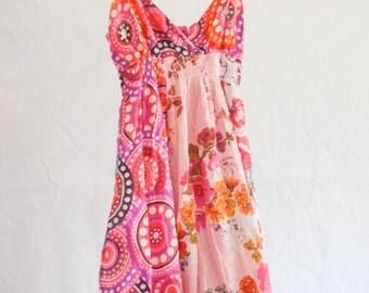 1970's Style Flower Child Dress