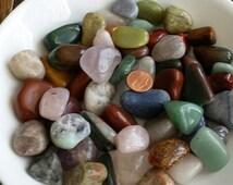 Mix Tumbled Gemstones-2 lb-Mix Tumbled Rock-Tumbled Agate-Mosaic Supplies-Jewelry Supplies