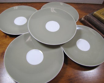 Royal Adderley - Ridgway Potteries - Arcadia Pattern - Fine Bone China Saucers - Made in England - Set of Five (5)