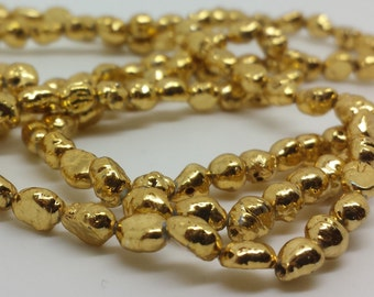 Small Gold Plated Freshwater Pearls