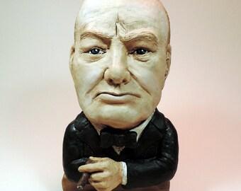 Sculpture of Winston Churchill