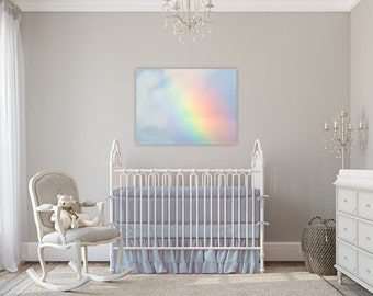Somewhere Over the Rainbow ~ Canvas Wall Art, Boy, Nursery, Wall Decor, Children's Room, Fine Art Photography, Baby, Gift, No Frame Needed