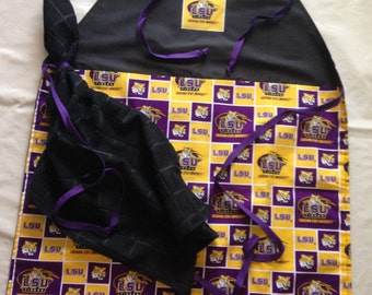 "LSU ""Tigers"" Grilling Apron w/Detachable Towel"