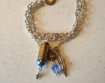 Bullet Shell Bracelet with Swavorski Crystals