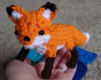 "Crochet Fox Orange Plush ""Laurix"""