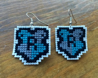 Harry Potter Ravenclaw Cross Stitch Earrings