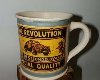 Handmde Cofee/Tea Ceramic mug - The Evolution/The Revolution