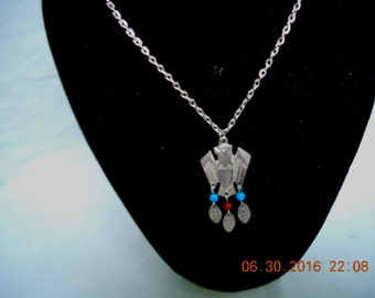 Native american Thunder bird necklace vintage