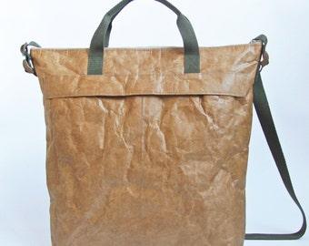 Minimalist Men's Tyvek Paper Messenger Bag, Lightweight Messenger Bag / Crossbody Bag, Personalized Tyvek Paper Messenger Bag, Gifts for Him
