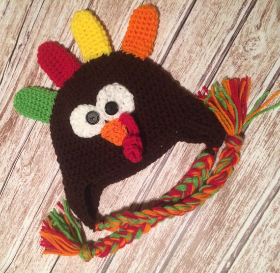 4190d8316a9 Thanksgiving Turkey Beanie Hats for Baby