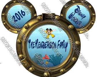 Disney Cruise Just Engaged Door Decoration