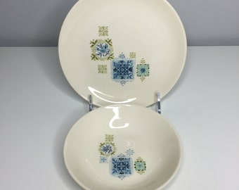 SALE! vintage small plate and bowl set