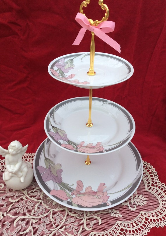 Wedding Cake Stand 3 Tier Serving Trayfine China Sale Jewelry
