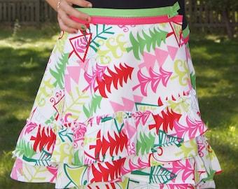 CLEARANCE! Girls Skirt, Girls Holiday Dress, Christmas Dress, Girls Ruffled Skirt