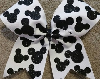 Disney Cheer Bow, Disney, Disney Bow, Summit or Worlds, Mickey Bow